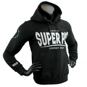 Super Pro Hoody S.P. Logo black/white