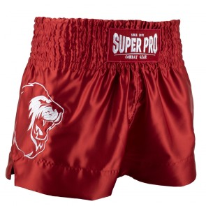 Super Pro Combat Gear Thai- und Kickboxing Short Hero red/white