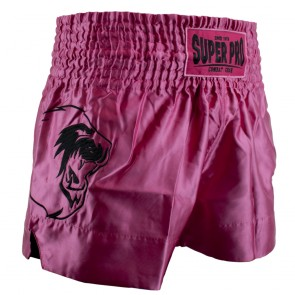 Super Pro Combat Gear Thai- und Kickboxing Short Hero pink/white