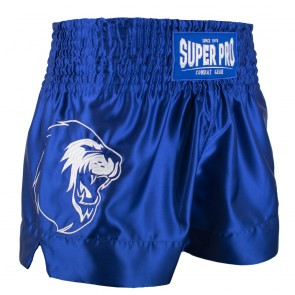 Super Pro Combat Gear Thai- und Kickboxing Short Hero blue/white