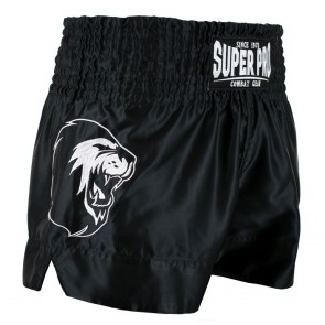 Super Pro Combat Gear Thai- und Kickboxing Short Hero black/white