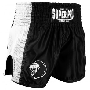 Super Pro Combat Gear Thai- und Kickboxing Short Brave black/white