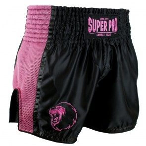 Super Pro Combat Gear Thai- und Kickboxing Short Brave black/pink