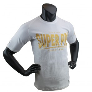 Super Pro T-Shirt S.P. Logo white/gold