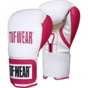 TUF Wear Damen Wildcat Kickboxhandschuhe weiß/pink