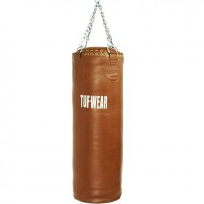 TUF Wear Boxsack aus echtem Leder in Braun