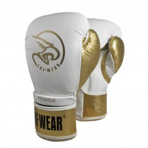 59.95TUF Wear Pegasus (kick)bokshandschoen Leder Wit/Goud