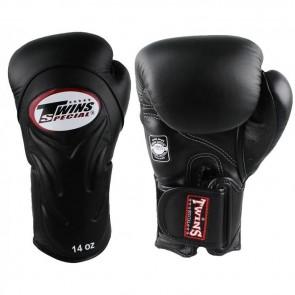 Twins (kick)bokshandschoenen Velcro BGVL-6 Zwart 14oz