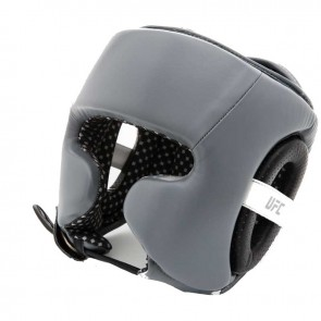 UFC Training Headguard Leder Grau