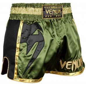 Venum Kickboksbroek Giant Muay Thai Groen/Zwart/Goud