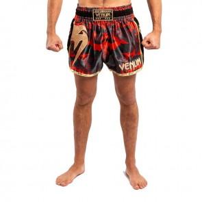 Venum Kickboksbroek Giant Muay Thai Rood/Goud