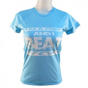 Victory Sports T-Shirt I'm a Girl and I Beat You