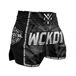 Wicked1 Kickboksshort Black Diamond Zwart/Wit