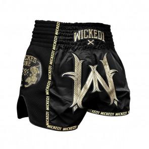 Wicked1 Kickboksshort Warrior Zwart/Goud