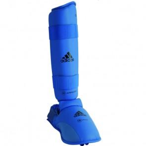 adidas WKF Schienbeinschutz mit abnehmbarem Fuß Blau